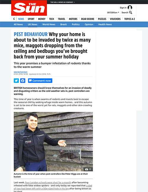 PEST BEHAVIOUR Why your home is about to be invaded by twice as many mice, maggots dropping from the ceiling and bedbugs you've brought back from your summer holiday