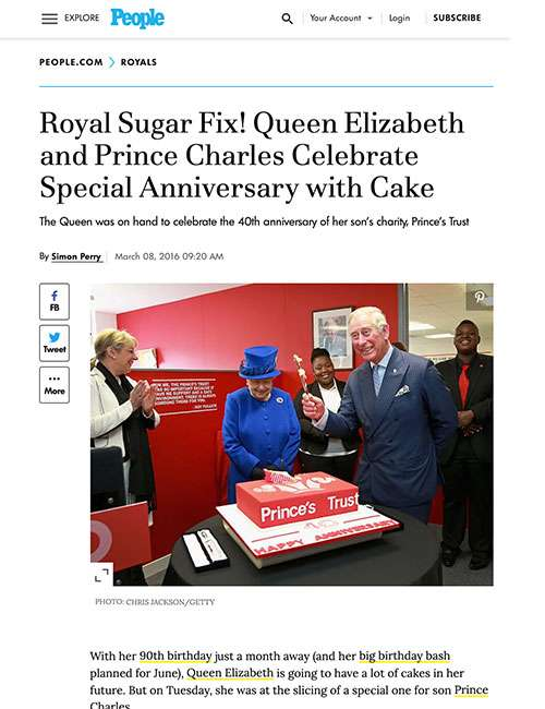 Royal Sugar Fix! Queen Elizabeth and Prince Charles Celebrate Special Anniversary with Cake